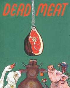 "Sue Coe. Dead Meat 1995. Gouache on Strathmore Bristol board. 11 3/4"" x 9 3/8"" (29.9 x 23.8 cm). Copyright © 1995 Sue Coe, Courtesy Galerie St. Etienne, NY."