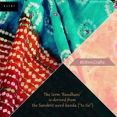 We specialize in 'Bandhani ' or 'bandhej' , a type of tie-dye practiced mainly in the states of Rajasthan and Gujarat. Click here to find this folk favorite here: http://bit.ly/UyxUhp