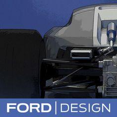 Ford Vision Gran Turismo Concept Design Sketch