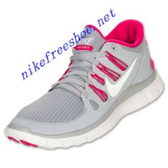 d1bc156ccf06 Nike Free 5.0 Womens Wolf Grey White Pink Force 580591 061 Nike Shoes For  Sale