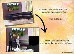Hacemos #cómics a medida y utilizamos #fotos para los escenarios de las viñetas…