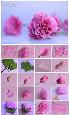 23 Enjoyable and Eye-Catching DIY Paper Crafts Ideas to Make Interesting Stuff These beautiful paper flowers can be made easily with the help of crepe paper. You can make a beautiful bouquet for Mother's Day, Father's Day or Teacher's Day. Paper Flowers Craft, Flower Crafts, Diy Flowers, Fabric Flowers, Crepe Paper Roses, Diy Origami, Origami Paper, Dollar Origami, Origami Ball
