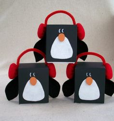 Cute box Penguins---or could be blocks. Either way, a cute, easy craft for holidays!