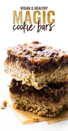 These easy Vegan Magic Cookie Bars are twice as enchanted, made without sweetened condensed but still all the same delicious sweet layers! Vegan, gluten-free, grain-free option.