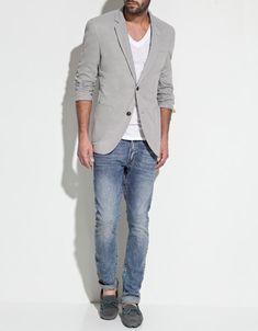 pique blazer with elbow patches // zara