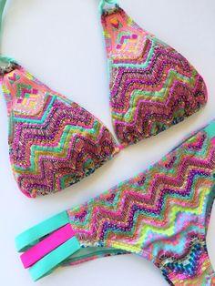 NEW Colombian Swimwear Bikini Set Size M Bathing Suit Embroidered  | eBay