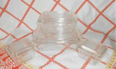 Pyrex CLEAR Complete Refrigerator Set by WeBGlass on Etsy