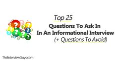 Informational Interview Questions, Job Interview Tips, Questions To Ask, Reading, Reading Books