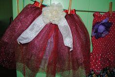 Red Rose Toddler   3T  skirt by Nameitgotit on Etsy, $20.00