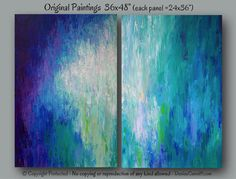 Large wall art Jewel tone abstract original by ArtFromDenise Purple Home, Turquoise And Purple, Abstract Canvas, Abstract Paintings, Blue Painting, Abstract Photography, Jewel Tones, Custom Art, Large Wall Art
