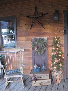Primitive Front Porches On Pinterest Country Porches
