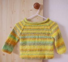 Stricken Baby Raglan-Pullover Anleitung