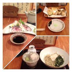 卓      神戸市  元町   きずし  かきの天ぷら  おろしそば 白