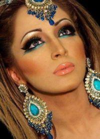восточный макияж для зеленых глаз 1