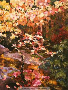 Fall Woodland River