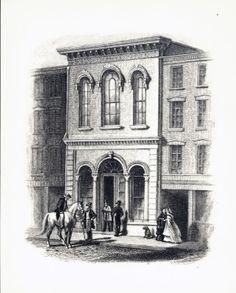 Exchange Bank, Third Street and Washington Avenue. (1857) ©Missouri History Museum