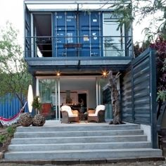 Beautiful home in Spain constructed from 4 shipping containers. I've been seeing more and more of these, and I have to say, they're pretty cool.