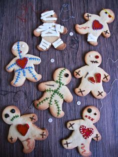 These voodoo doll cookies are so clever.