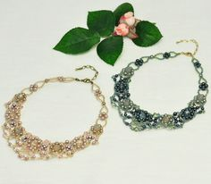 cute necklace tutorial - in japanese but with plenty of pictures