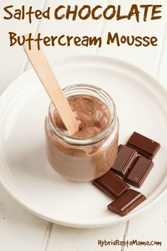 Salted Chocolate Buttercream Whipped Mousse - The Recipe To End All Recipes Hybrid Rasta Mama