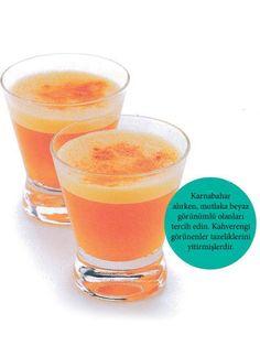 Havuç, karnabahar ve zerdeçal (bağışıklık destekleyici,antioksidan...)