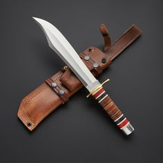 Introduce flair and finesse to your hunting knife collection with these pieces from Knives Ranch. Every piece is made from high quality Damascus steel, and matched to. Cool Knives, Knives And Tools, Knives And Swords, D2 Steel, Hunting Gear, Cold Steel, Tactical Knives, Custom Knives, Damascus Steel