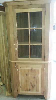 Reclaimed Barn Wood Corner Cabinet With Gl Door Like Us On