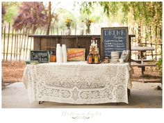 Coffee bar for morning wedding... Since not everyone is a morning person like me!
