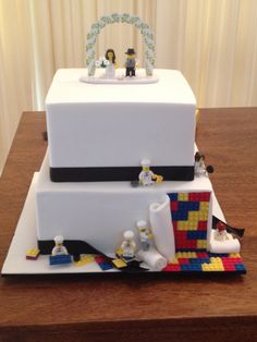 Copy of a Lego Wedding Cake requested by my Bride and Groom.