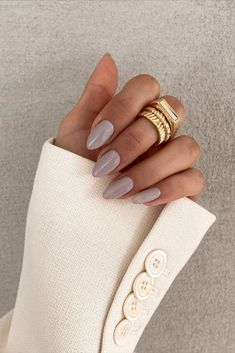 Cute Acrylic Nails, Cute Nails, Pretty Nails, Healthy Nails, Get Healthy, Hair And Nails, My Nails, Oval Nails, Nagellack Trends
