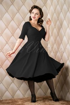 Collectif Clothing Trixie Doll Dress Black 14338 20151118 006W