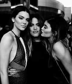 Models Kendall and Kylie Jenner with their celebrity sister Khloé Kardashian.