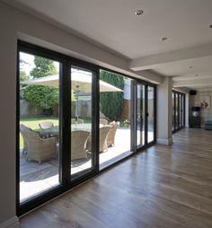 House, Sliding Glass Doors Patio, Residential, Open Plan Kitchen Living Room, Exterior Design, New Homes, Aluminium Sliding Doors, Doors, Sliding Doors Exterior
