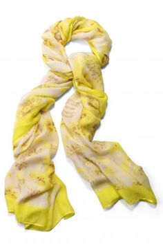 Stella & Dot Palm Springs Scarf - Citrine Floral- A must have for Spring!  Shop here ----> www.stelladot.com/callista