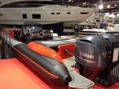 Technohull seadna999 at the London boat show with carbon flexiteek! By Elite Teak