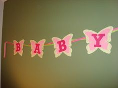 Handmade Banners for Baby Shower #etsy #baby #shower