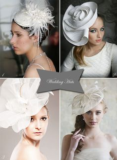 Dahlias Day - The Wedding Talk Blog for the Practical Bride: Wedding Hats Instead of a Veil?