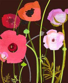 Ranunculus by illustrator Susy Pilgrim Waters (rep by Lilla Rogers who has fantastic taste)