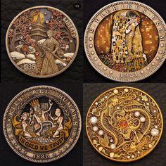 Hobo Nickel, Metal Artwork, Handmade Items, Handmade Gifts, Wedding Ring Bands, Precious Metals, My Images, Metal Working, Ranger