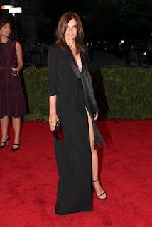 Carine Roitfeld wears Givenchy - Met Ball 2012