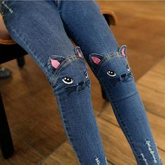 Girls Jeans 2017 Cute Cartoon Pattern Kids Pants Jeans Lovely Cat High Quality Children Baby Girl Pants Casual Trouse Thick Thin – Kid Shop Global – Kids & Baby Shop Online – baby & kids clothing, toys for baby & kid – – Kinder Baby Girl Jeans, Girls Jeans, Baby Girls, Toddler Girls, Baby Shop Online, Denim Crafts, Jean Crafts, Kids Pants, Toddler Pants