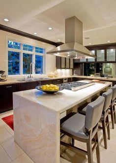 quartz countertop gives seamless aesthetics and a modern flair