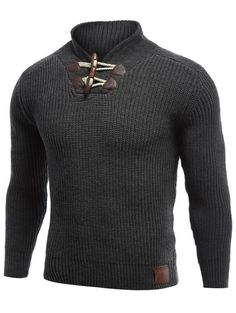 Cardigans & Sweaters | Black Flat Knitted Pullover Toggle Sweater - Gamiss
