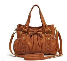 Bowknot Good quality Woman s shoulder bag tote bag messenger bag A1023 Tan  White Shoulder Bags 3c4cac990845f