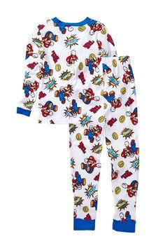 6ec20d15768c AME - Super Mario Bros. Cotton PJ s - Set of 2 (Little Boys  amp