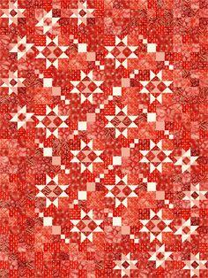Taylored Stars Designer Pattern by Robert Leko as seen at Robert Kaufman Fabric Company