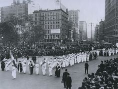 Women suffrage march in New York.