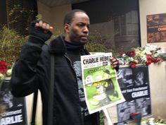 #JeSuisCharlie poing levé #charliehebdo