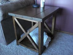 Hey, I found this really awesome Etsy listing at https://www.etsy.com/listing/171032183/rustic-x-end-table