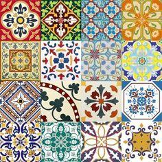 Adesivo para Azulejo Português Mosaico 16 peças